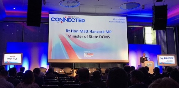 Matt Hancock speaking at Connected Britain 2017