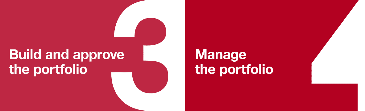 Build, approve and manage the portfolio steps